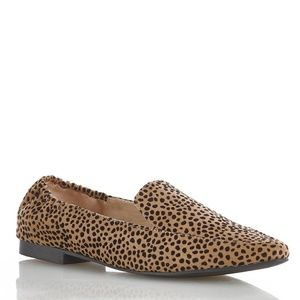 Cato Wide Width Faux Suede Pointy Toe Flat Cheetah